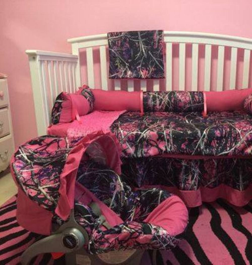 Hot Pink And Camo Baby Stuff Love The Crib Bedding And