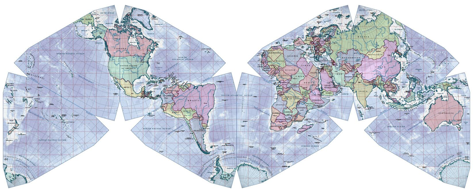 World Map, Political, 2012, Cahill-Keyes Projection - Cahill ...