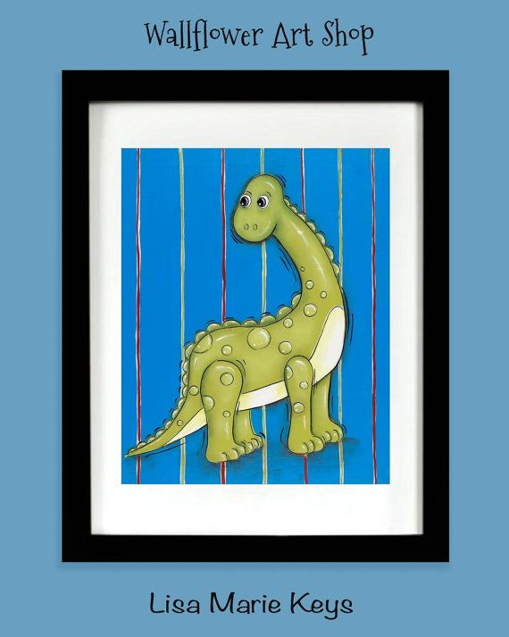 Pinterest Playroom Wall Decor : Dinosaur wall art brachiosaurus boys by