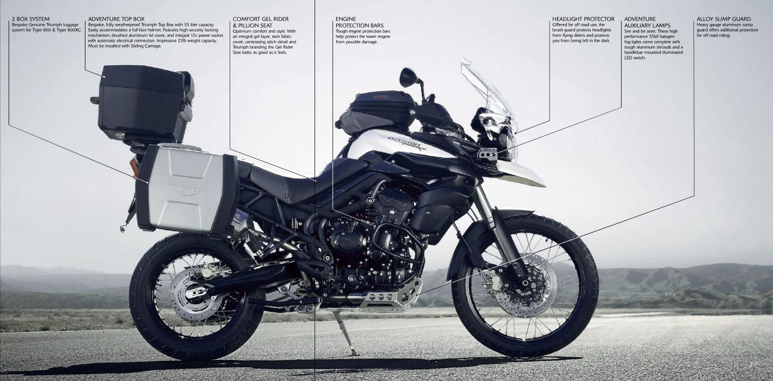 Triumph Tiger 800 XC: pics, specs and list of seriess by year ...