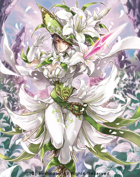 White Lily Musketeer Cecilia White lilies, Cardfight
