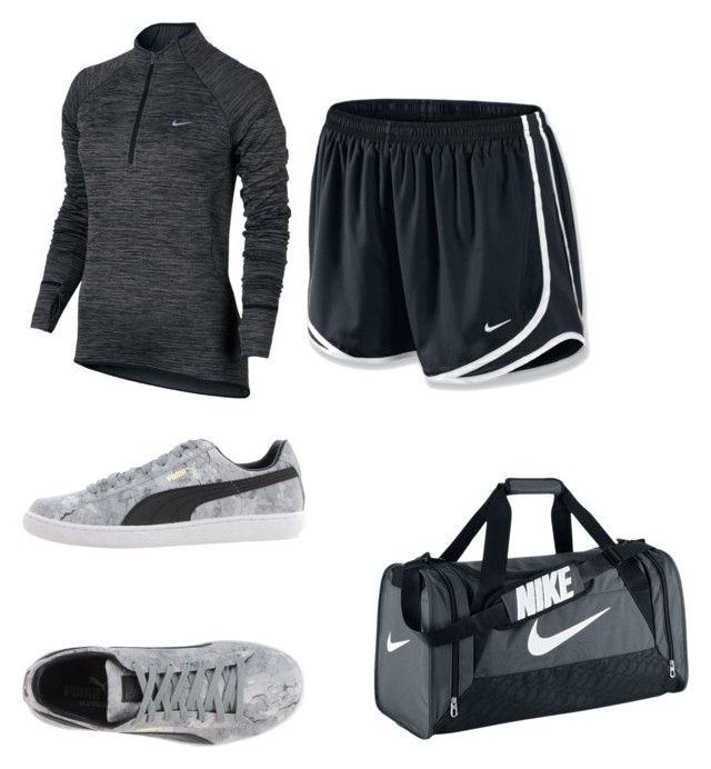 """Work out clothes"" by jaydensims00 ❤ liked on Polyvore featuring NIKE and Puma"