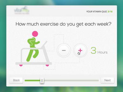 Questionnaire  Step Interface  Behance