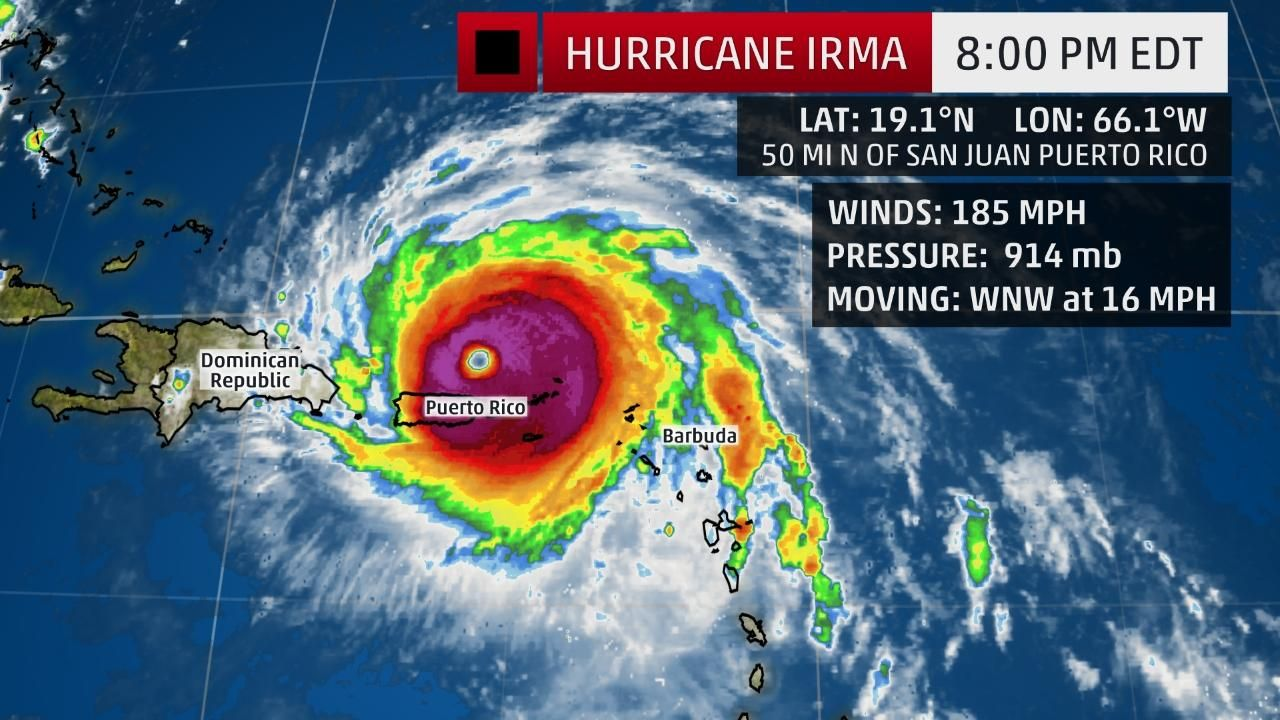 Hurricane Irma On Its Way To The Bahamas As A Potentially Catastrophic Category 5 Hurricane Hurricane Watches Issued For Parts Of Florida The Weather Channel Puerto Rico Hurricane Florida Hurricane