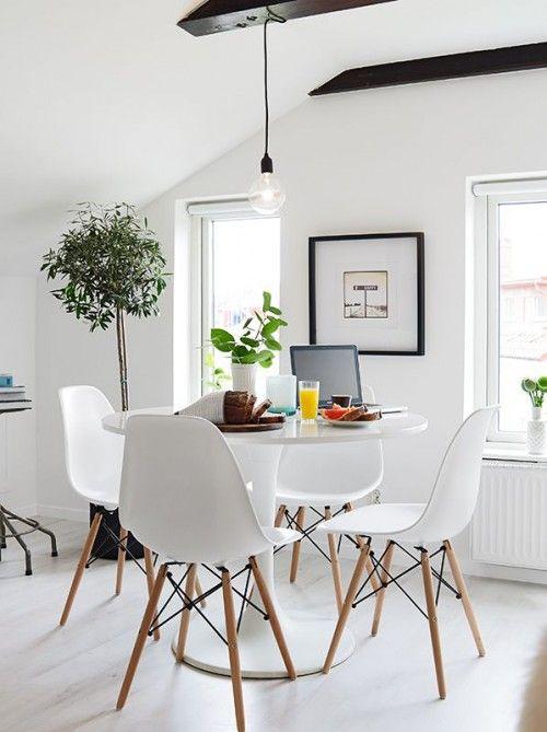 Witte Tafel Rond.Ronde Witte Eettafel Dining At Home Decoracion De Comedores