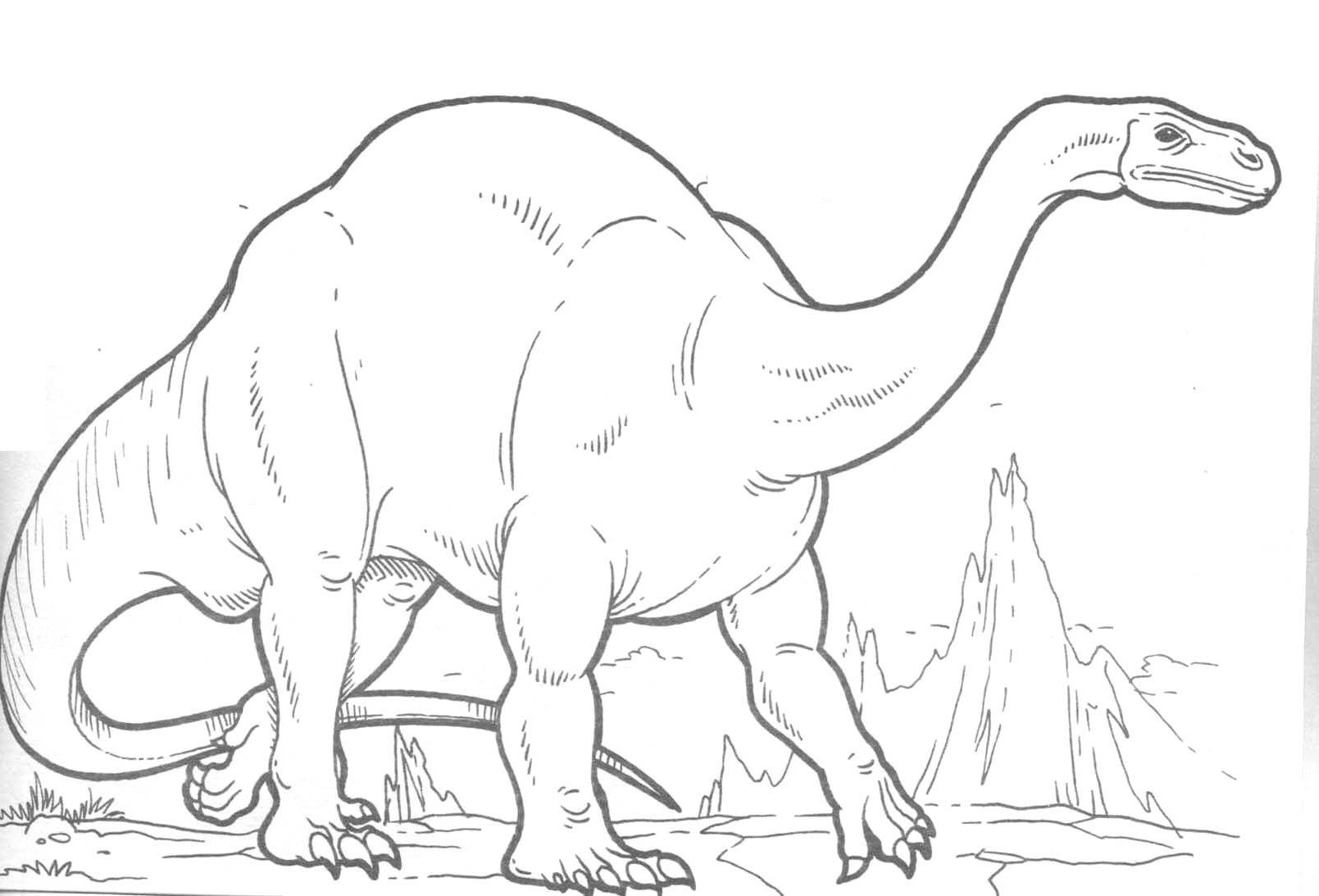 Dinosaurs With Strong Body Coloring Pages For Kids B55 Printable Dinosaurs Coloring Pages For Kids