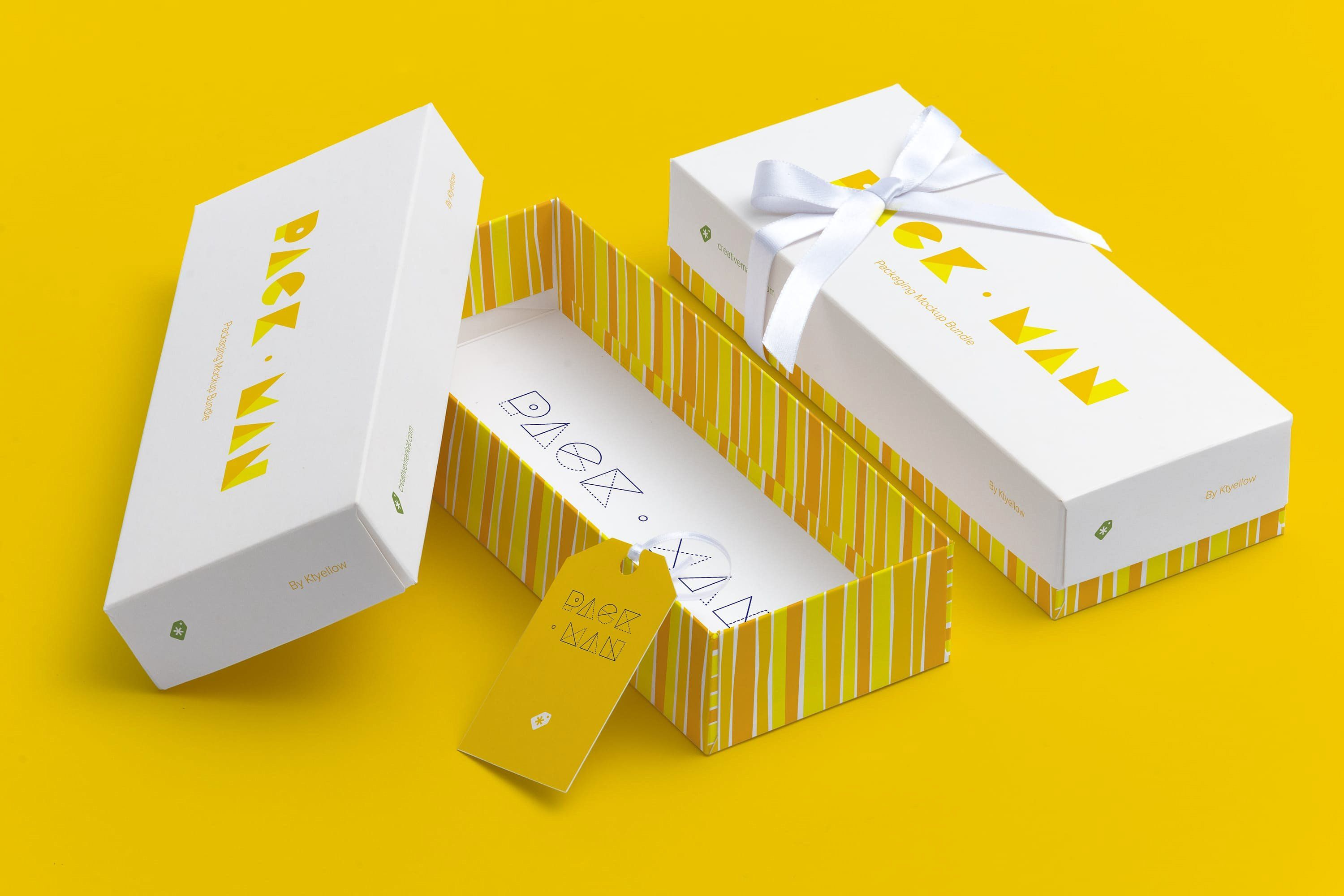 Download Rectangular Gift Box Mockup 03 Box Mockup Gift Box Packaging Design