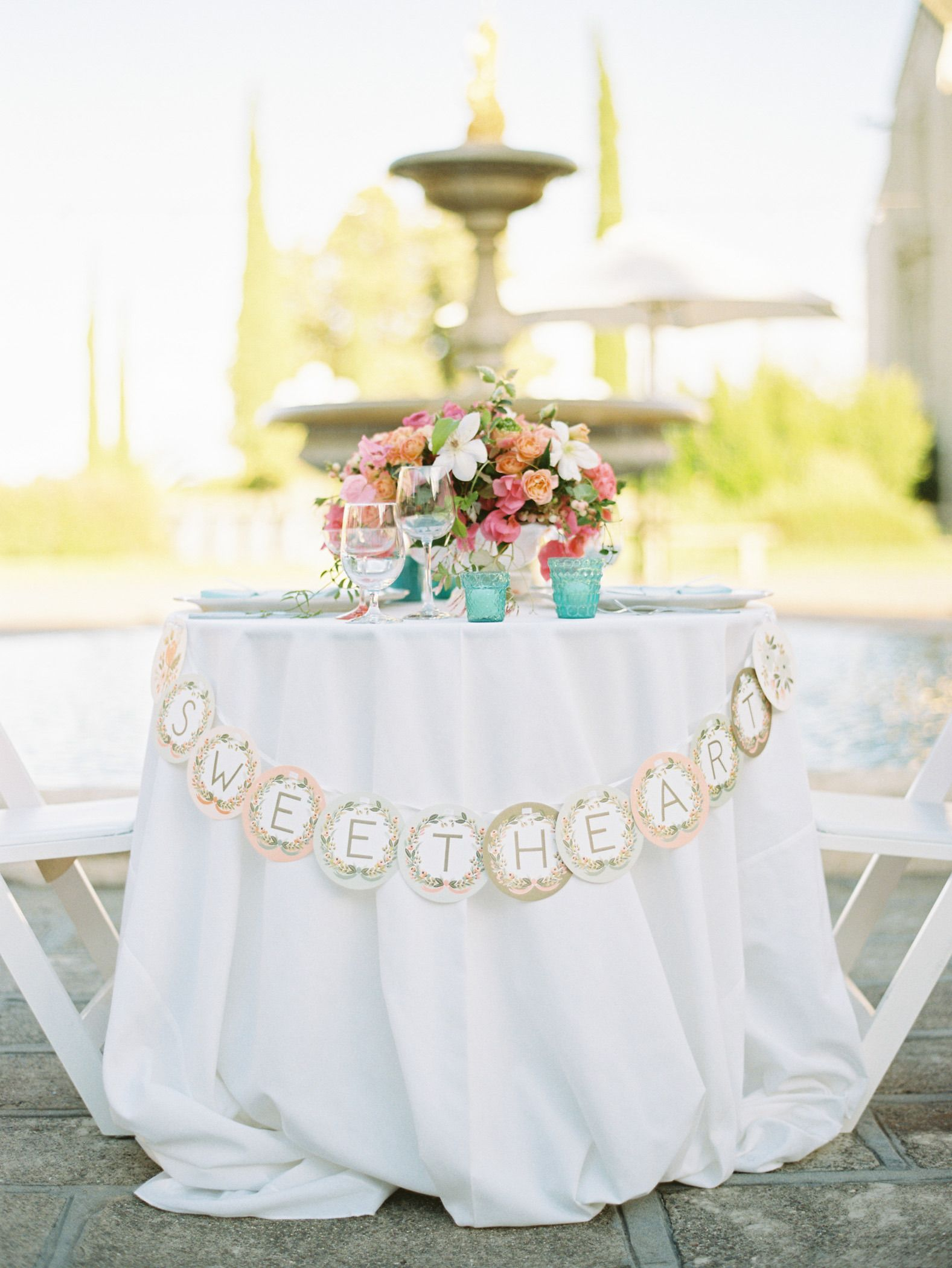 Carnival Inspired Wedding full of Color | Sweetheart table, Wedding ...