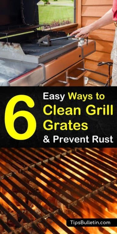 6 Easy Ways to Clean Grill Grates and Prevent Rust  Clean grill, Clean grill grates, Grill grates