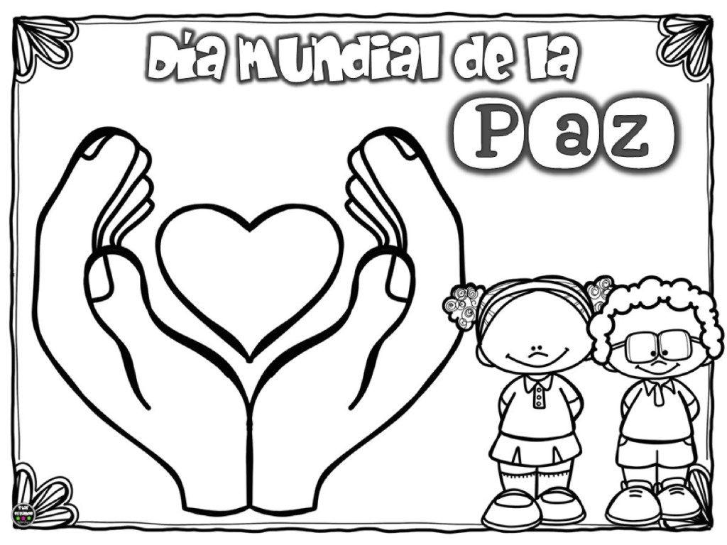 Dia De La Paz Galeria De Dibujos Y Carteles Ninos Del Mundo Para Colorear Orientacion Andujar En 2020 Dibujos De La Paz Dia De La Paz Mural De La Paz