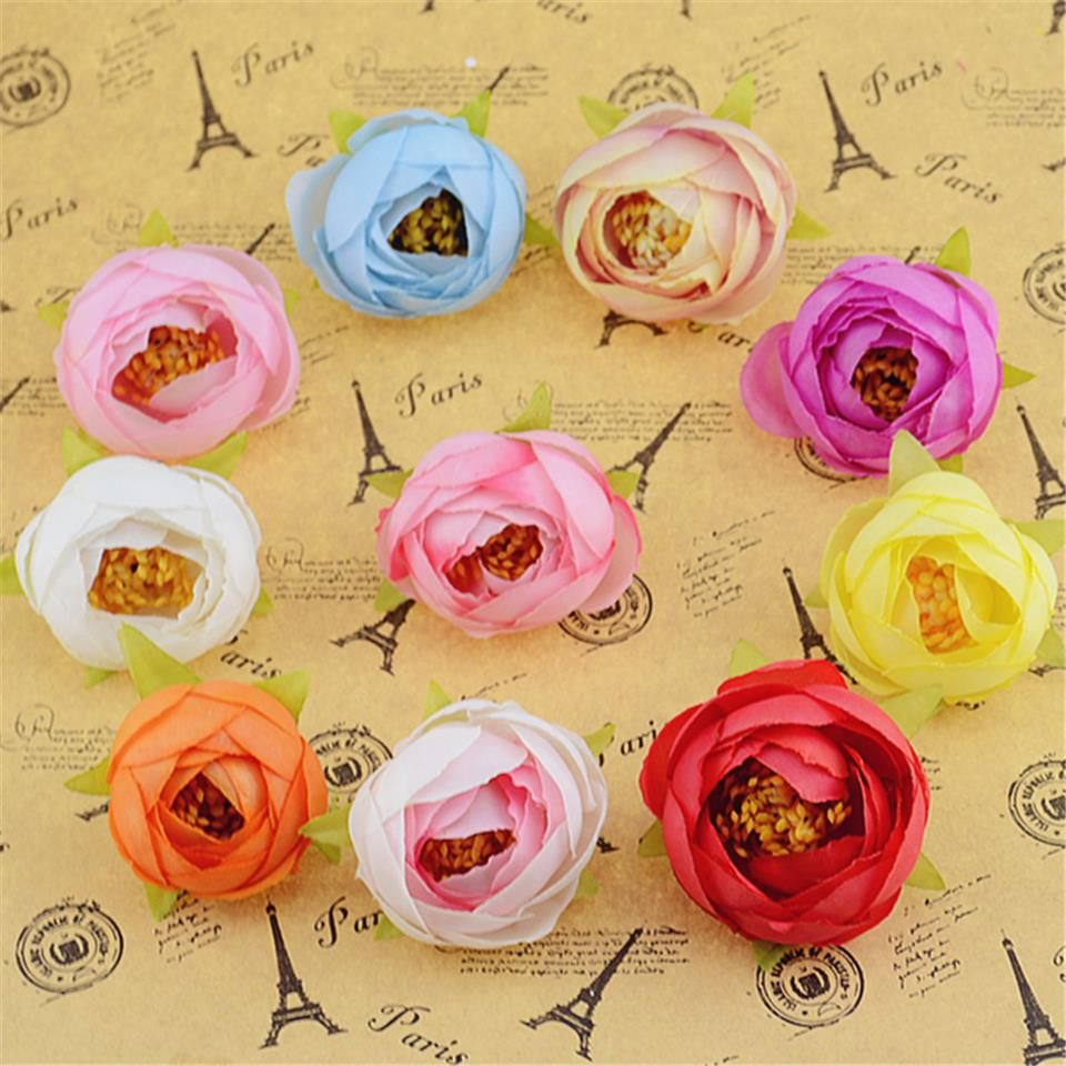 Wedding car flower decoration images  pcs cm Silk Unopened Rose Bud Artificial Flower Head For Wedding