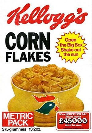 Kellogg Corn Flake Packets Since The 1950s Corn Flakes Flakes