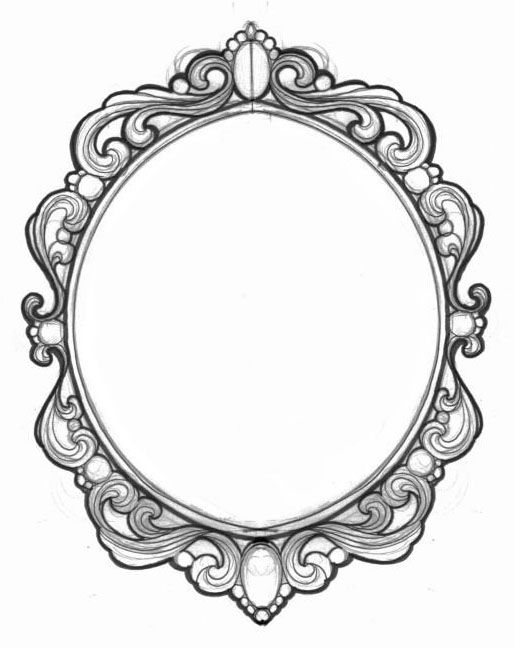 Pin By Colleen Wernig On Mirrors Vintage Frame Tattoo Mirror Tattoos Vintage Frames