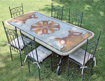 Tavolo Mosaico ~ Tavolino da salotto trovato in discarica decorato con mosaico di