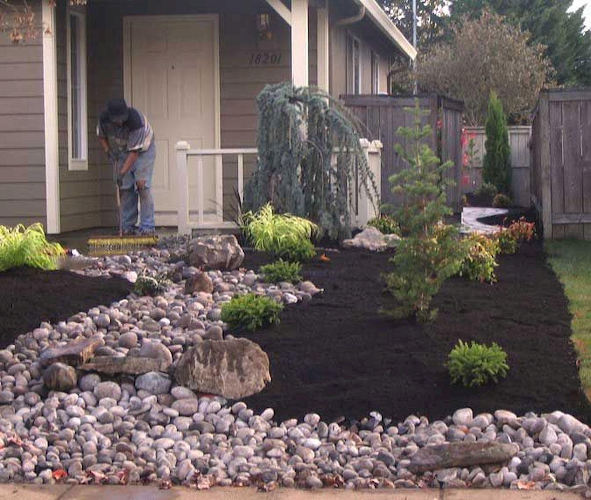 65 Amazing Front Yard Landscaping Ideas | Small yard ... on Cheap No Grass Backyard Ideas  id=83026