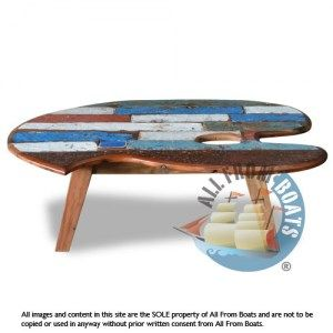 Coffee Table Mango Reclaimed Boat Timber Nautical Recycled Boatwood Furniture