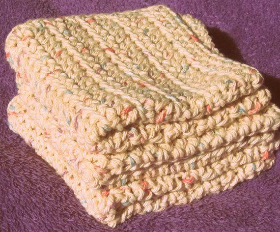 Dishcloth Crochet Pattern Easy Pdf Washcloth Flannel Face Cloth