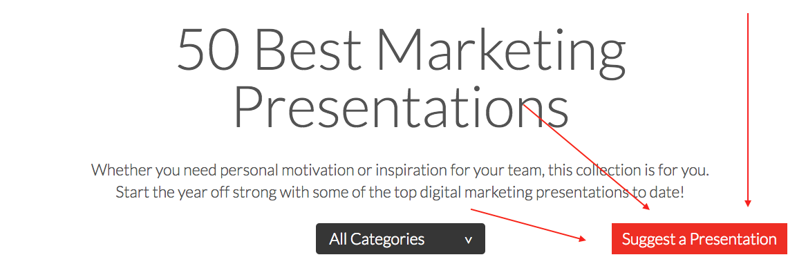 Submit Your Favorite  Marketing Presentation  My Style