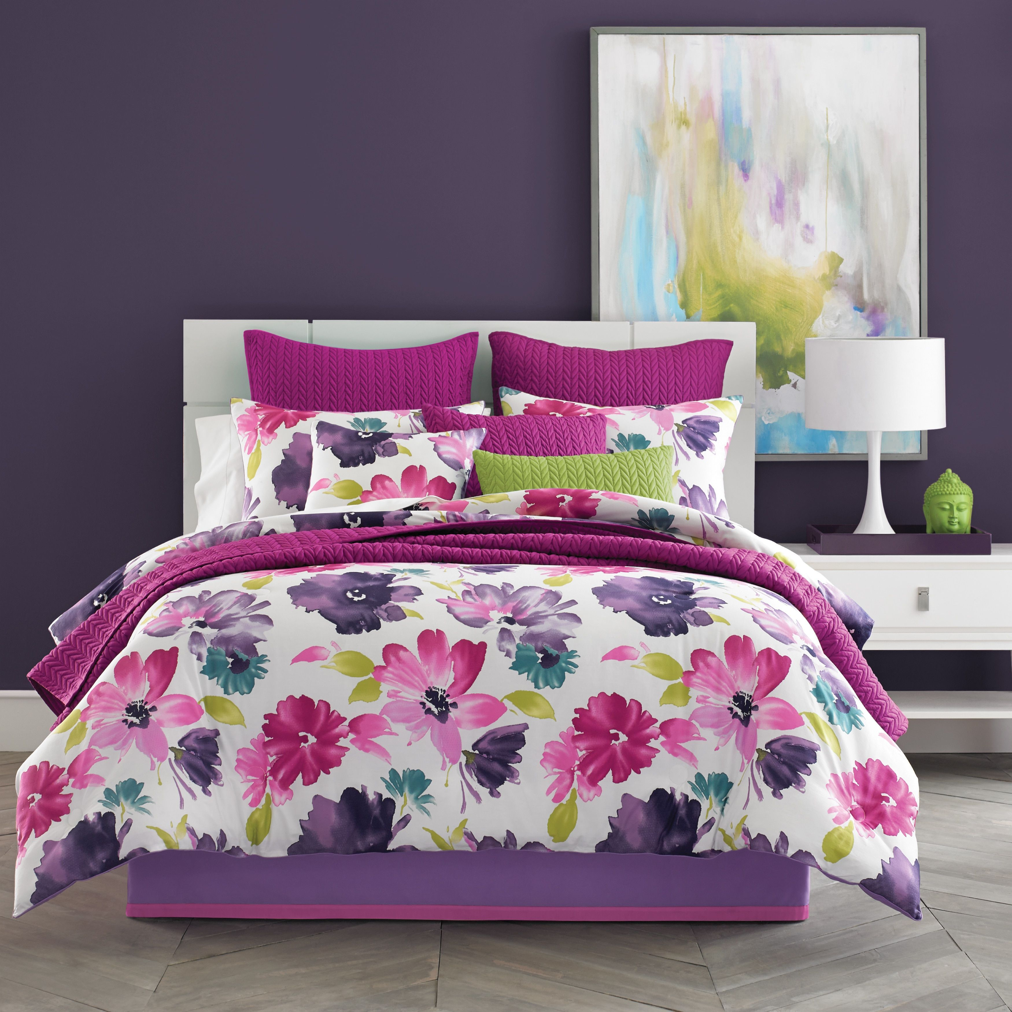 decorative twill sham twin pillow circles zone tapes quilt polka purple comforter xl set mi carly doodled itm dots includes