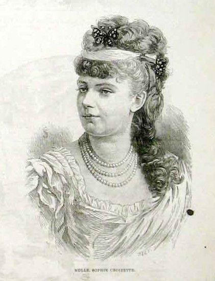 Sophie Alexandrine Croizette*1847 St.Petersburg+1901 Paris