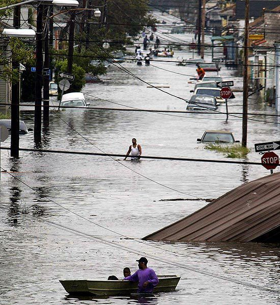 Hurricane Katrina This picture shows how bad Katrina hit