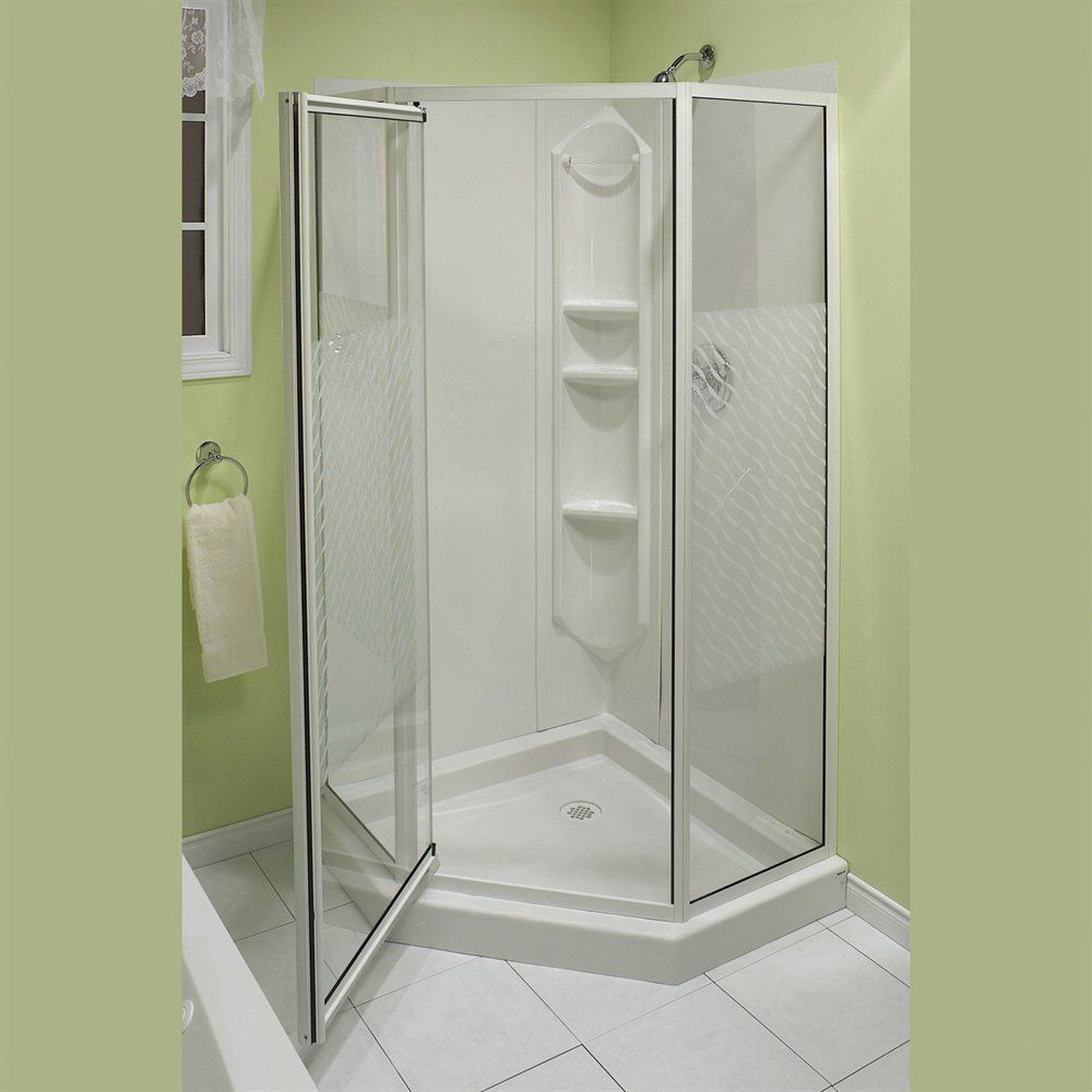 Feel Your Cozy Bathroom with Simple Shower Stalls Lowes: Delta ...