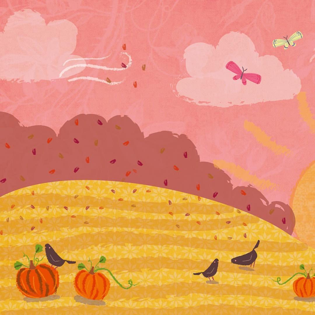 Illustration One - Experimentation: Autumn Scene  ©Rachel Victoria 2016