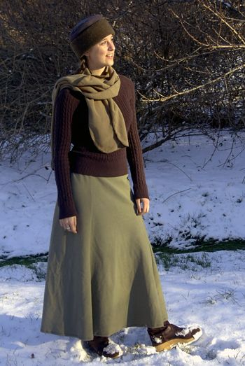 f2028bd06 Polar Fleece skirt - I made myself one like this today. Warmth better make  up for lack of cuteness