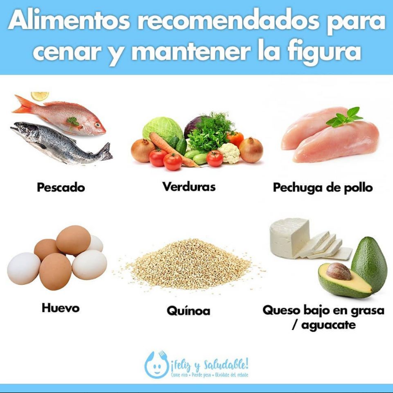 alimentos recomendados cenar