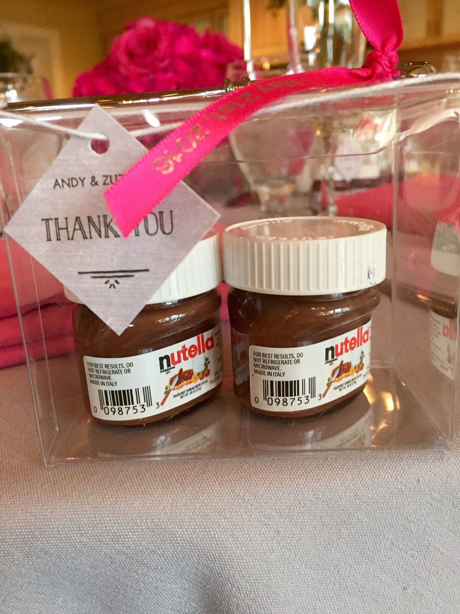 What a cute idea for a wedding favor! Spread The Love With Nutella ...