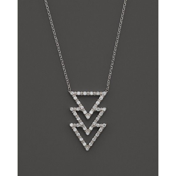 Kc Designs Diamond Triple Row Geometric Pendant Necklace in 14K White... ($1,050) ❤ liked on Polyvore featuring jewelry, necklaces, white, white diamond necklace, 14 karat gold necklace, diamond pendant necklace, diamond jewelry и pendants & necklaces