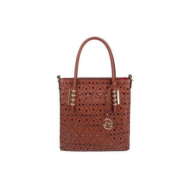 Who's the Boss Tote ❤ liked on Polyvore featuring bags, handbags, tote bags, tote bag purse, handbags totes, brown handbags, brown tote bag and handbags tote bags