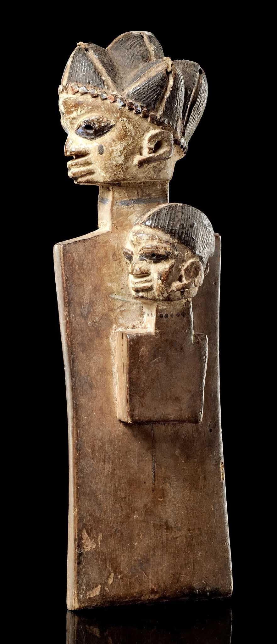 Africa Slat doll from the Yoruba people of Nigeria Wood black