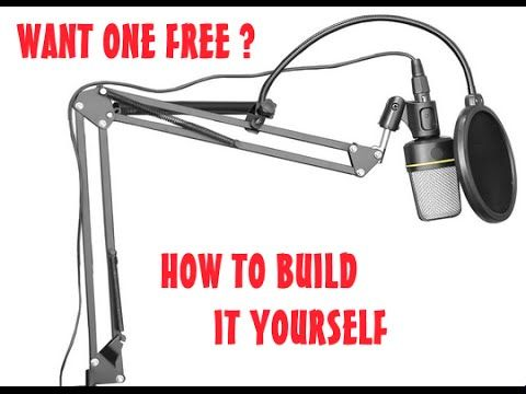 Diy Suspension Boom Scissor Arm Stand Mic How To Diy Microphone Stand Mic Diy Photography