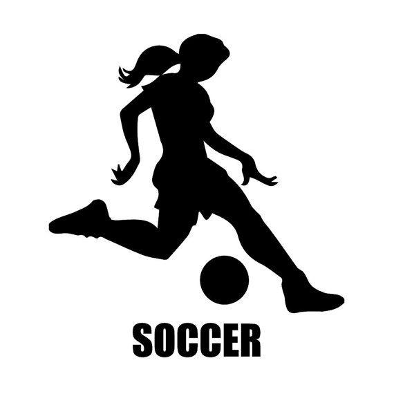 Custom Girl S Soccer Silhouette Wall Graphic Free Shipping Etsy Soccer Silhouette Wall Graphics Soccer