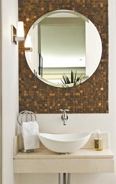 Fotos de Lavabos Decorados Pequenos - Banheiros Modernos - Fotos e