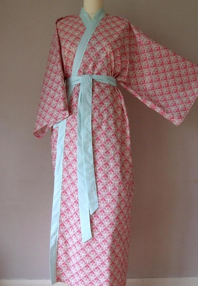 Cotton Kimono Robe - tulip in pomegranate £75.00 | Tulips | Pinterest