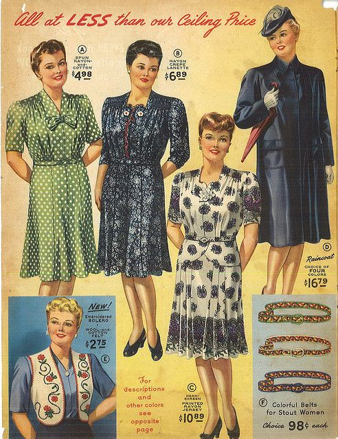 a94d7954da7ac 1945 Lane Bryant Catalog pg. 2 in 2019