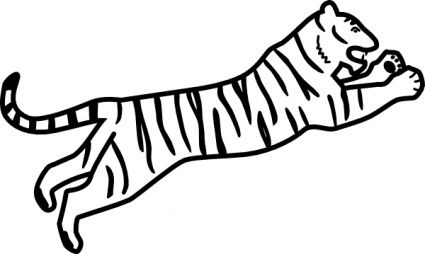 tiger jumping outline clip artjpg 425254