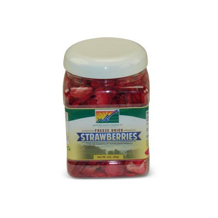 Mother Earth Products Freeze Dried Sliced Strawberries, jar #freezedriedraspberries