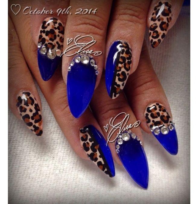 135128a2ced6d8 Niebieskie paznokcie jak z bajki! 20 pomysłów na niezwykły manicure ...