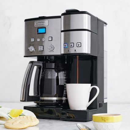 Cuisinart Coffee Center 12 Cup Coffee Maker And Single Serve Brewer Sur La Table Dual Coffee Maker Coffee Maker Coffee Center