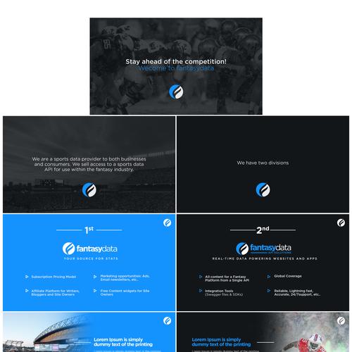 Design a corporate presentation for a Sports Data Company