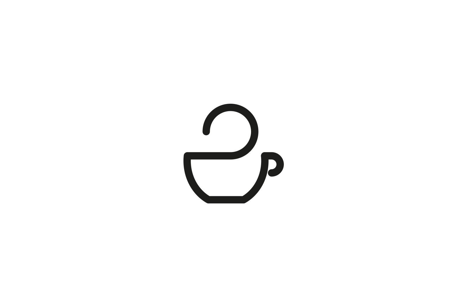 Coffee Cup Logo Black And White Joanna Kosinska Dengan Gambar