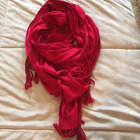 Beautiful red pashmina Classic.  Bundle any 3 of my scarves for $15. Accessories Scarves & Wraps