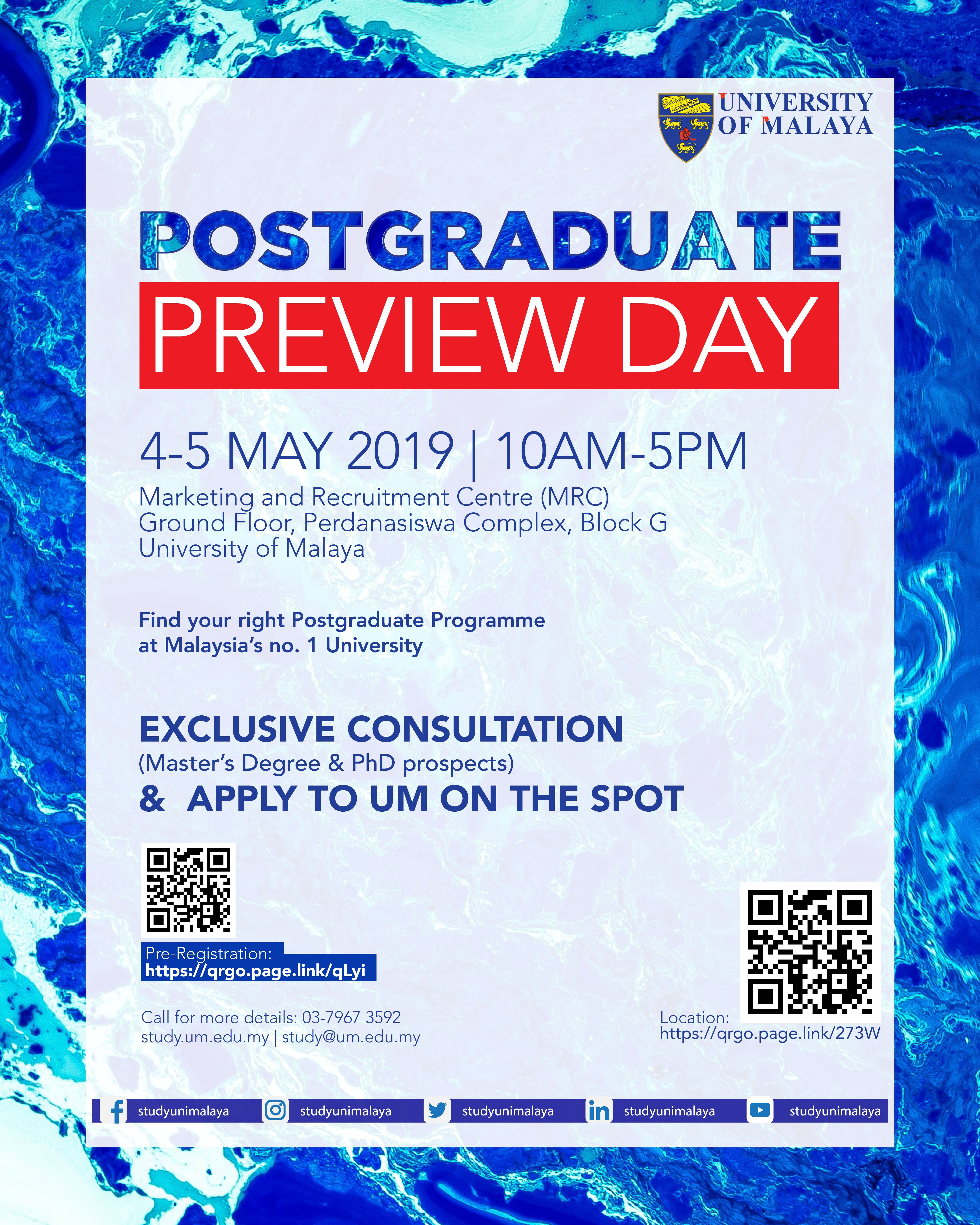 Postgraduate, How To Apply, Day