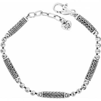 The Bali Bracelet features both the bead and foxtail chain