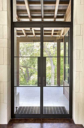 steel windows and doors garage entry gym entry