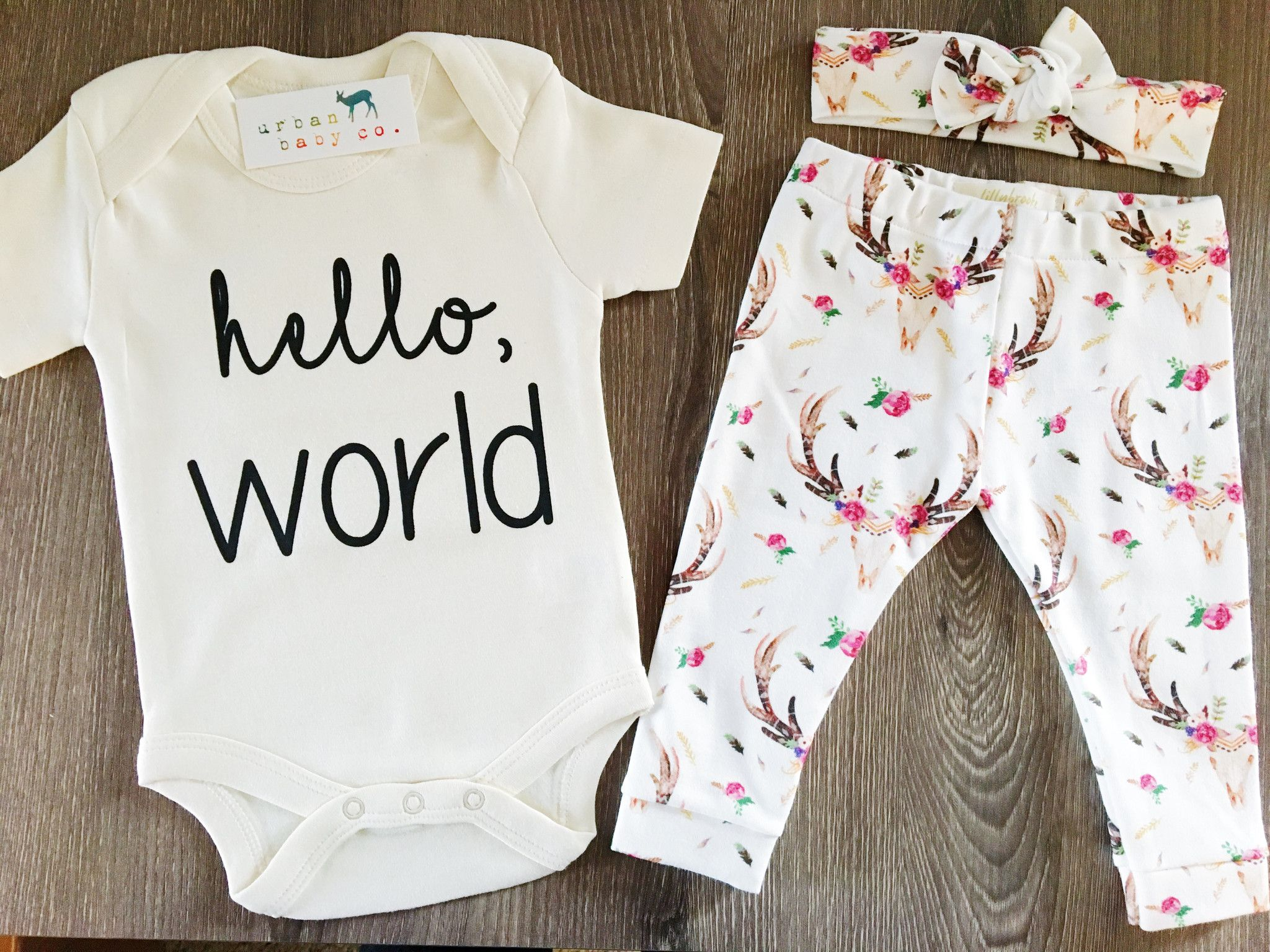 Organic Baby Girl esie e Piece Bodysuit Leggings Pants