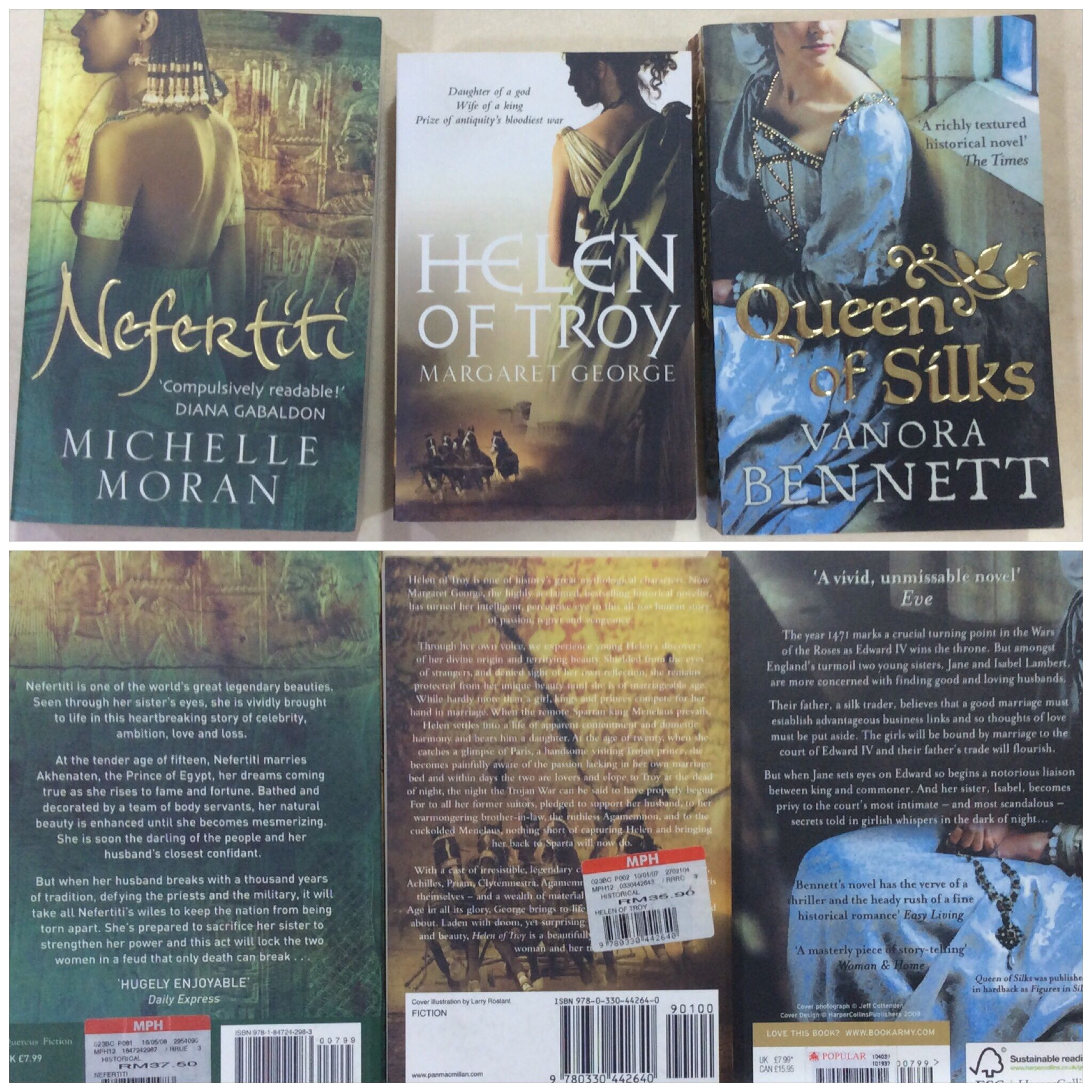 Historical fiction novels rm15 each historical fiction